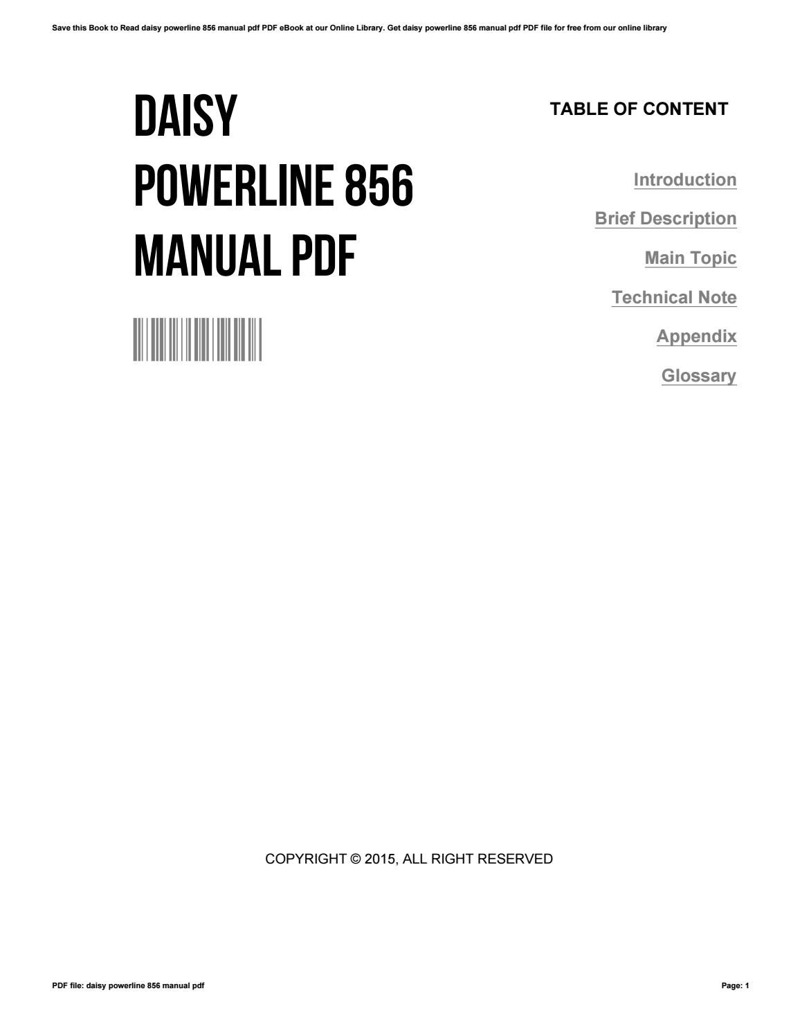 daisy powerline 822 owners manual